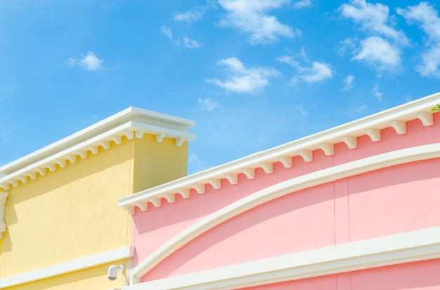 Mur coloré dans le style de l'italie