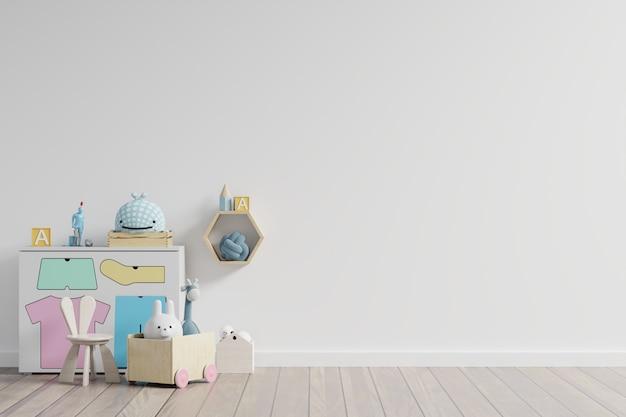 Mur dans la chambre des enfants en mur blanc.