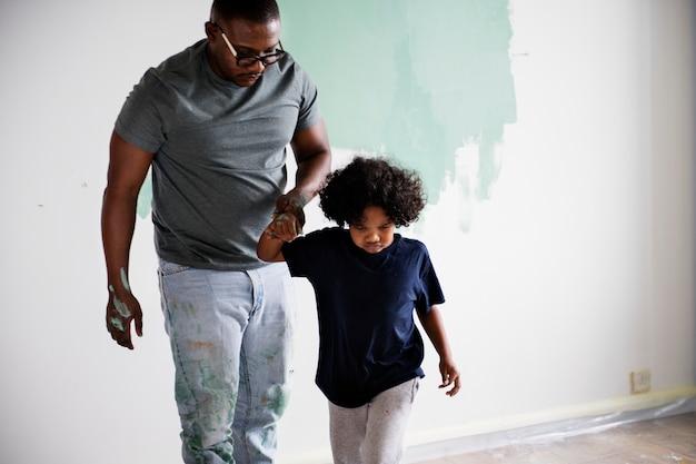 Mur De Famille Noir Peinture Maison Photo Premium