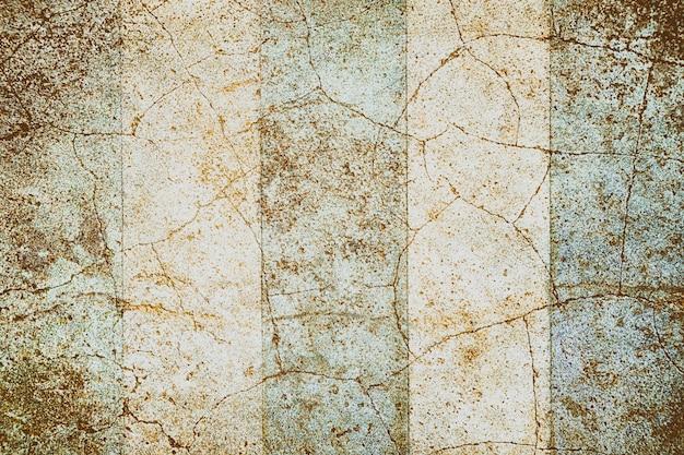 Mur de fissure grunge brun et bleu texture fond de style coloor vintage