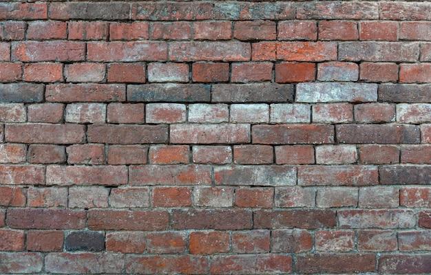 Mur de fond de briques anciennes rouges