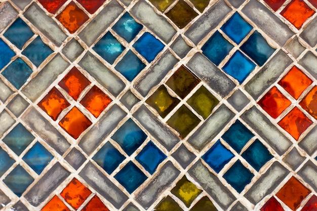Mur de fond de carreaux colorés