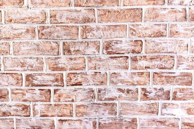 Mur. fond de maçonnerie décorative en brique rouge