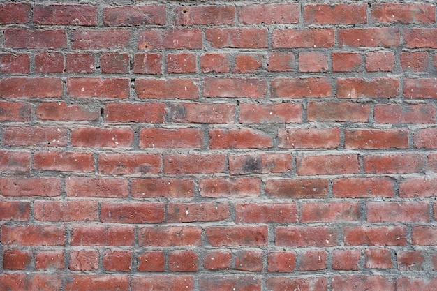 Mur de fond vintage de vieille brique rouge