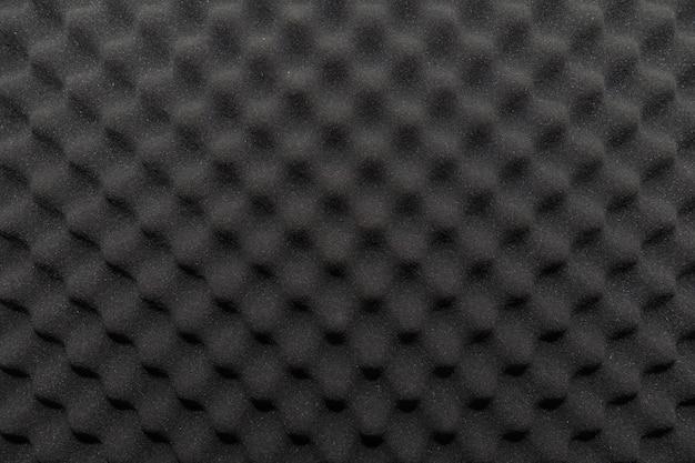Mur insonorisé dans le studio de son, fond d'éponge insonorisante