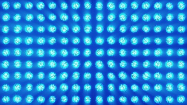 Le mur des lampes à incandescence est lumineux. fond led