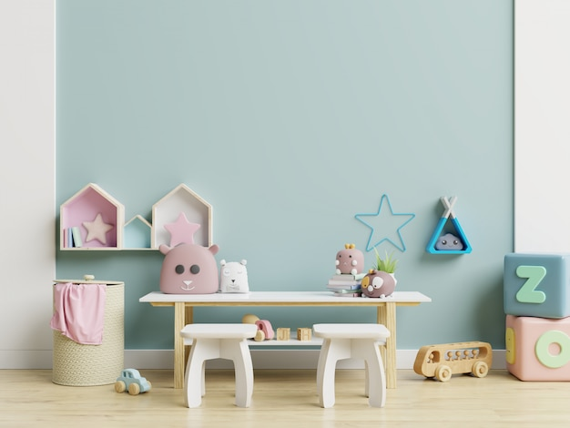 Mur de maquette dans la chambre des enfants