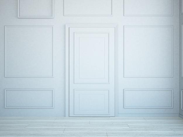 Mur de moulage gris avec porte cachée