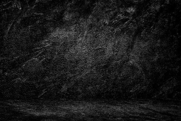 Mur noir texture fond sombre dégradé studio pour la composition de la toile de fond