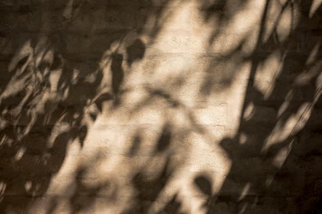 Mur avec des ombres et une lueur légère