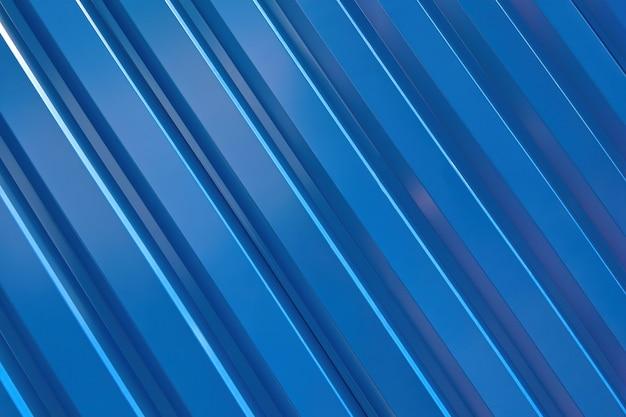 Mur ondulé en métal bleu, texture et motif.