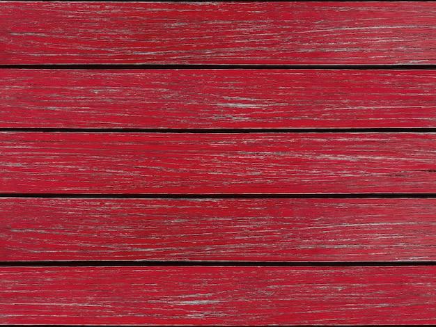 Mur de panneaux de bois rouge peint naturel.