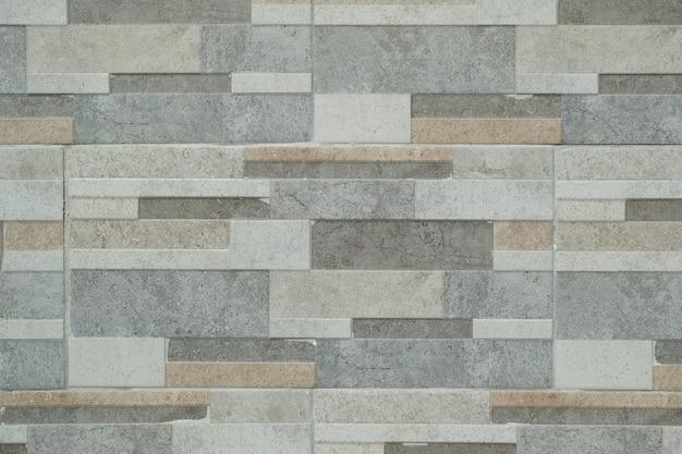Mur de pierre fait avec des blocs