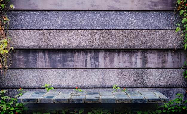 Mur de pierre grise pour fond de texture