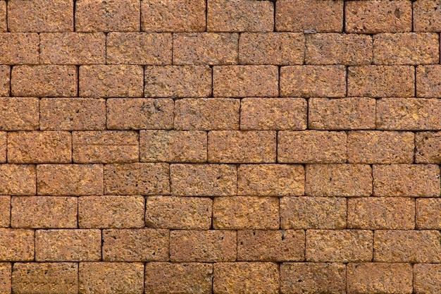 Mur de pierre de latérite.