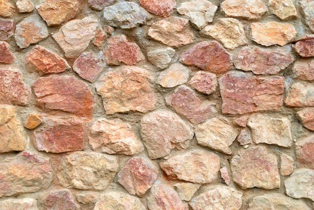 Le mur de pierre peut être utilisé pour le fond