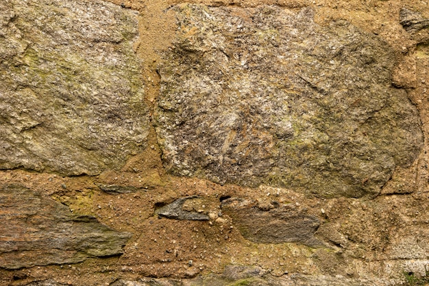 Mur de pierre vieilli