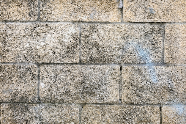 Mur de pierres à surface rugueuse