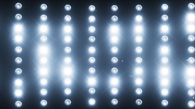 Un mur de projecteurs de lumière