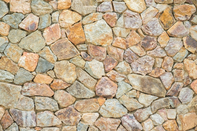 Mur de roches inégales