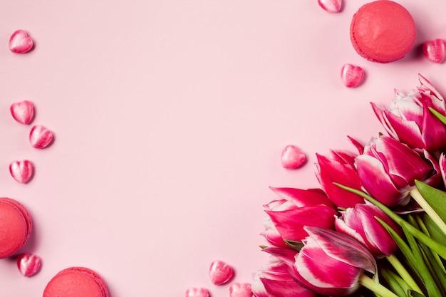 Mur rose monochrome happy valentine