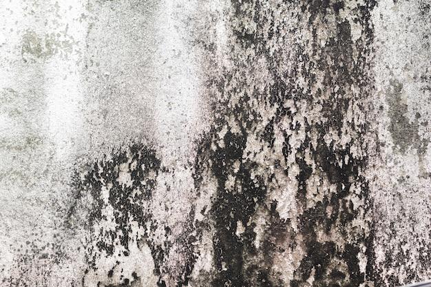 Mur sale avec la texture de la mousse