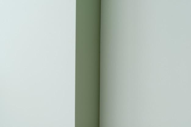 Mur de salle verte vide avec coin