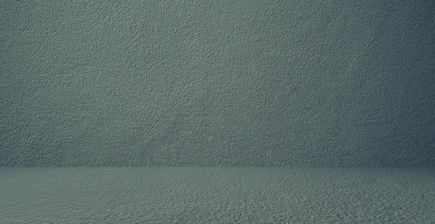 Mur et sol en béton, vert foncé, local, intérieur, pour produits d'affichage