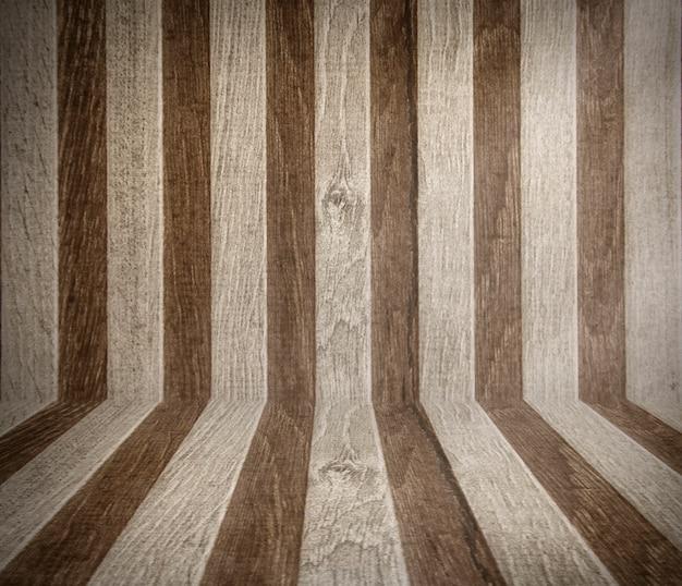 Mur et sol en bois