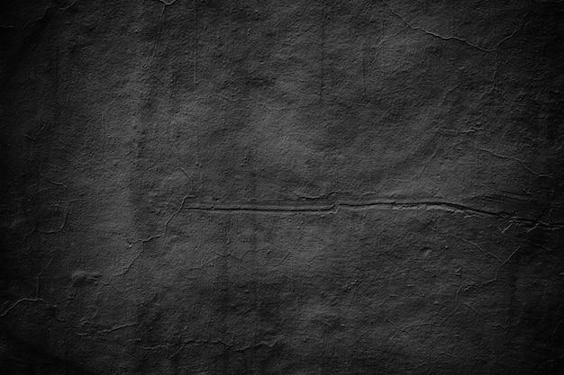 Mur sombre, texture de ciment noir de fond foncé