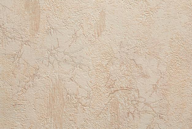 Mur de stuc peint beige murs de plâtre décoratifs texture d'arrière-plan