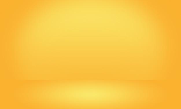 Mur de studio dégradé jaune luxe abstrait or, bien utiliser comme arrière-plan