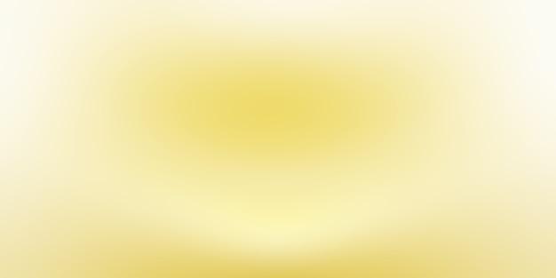 Mur de studio dégradé jaune or de luxe abstrait, bien utilisé comme arrière-plan, mise en page, bannière et présentation du produit.