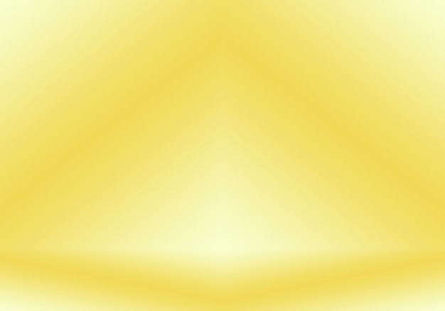 Mur de studio dégradé jaune or de luxe abstrait bien utilisé comme bannière d'arrière-plan et présentation de produit ...