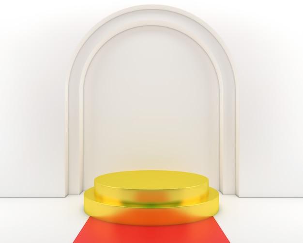 Mur de style moderne minimal de couleur pastel de forme géométrique abstraite, pour la table d'affichage de scène de podium de stand.