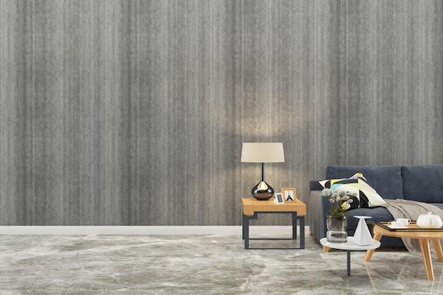 Mur texture fond bois marbre sol canapé chaise lampe