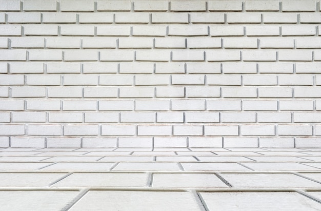 Mur de texture rustique en brique blanche