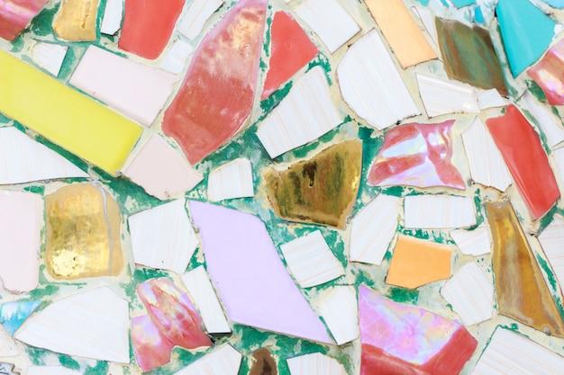 Mur de verre coloré et carrelage fond de texture, art de la mosaïque