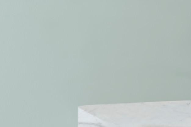 Mur vert pastel blanc