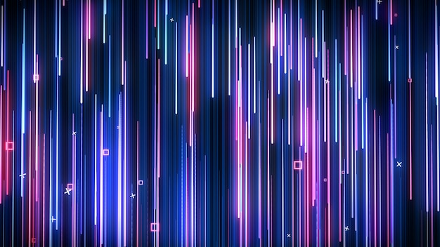 Mur vj animé néon rose-bleu