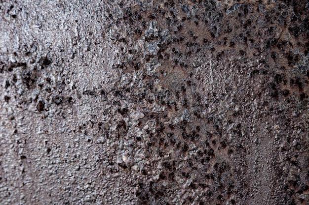 Murs de fer rouillés extrêmement rapprochés
