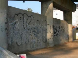 Les murs de graffitis