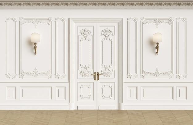 Murs intérieurs classiques avec espace de copie