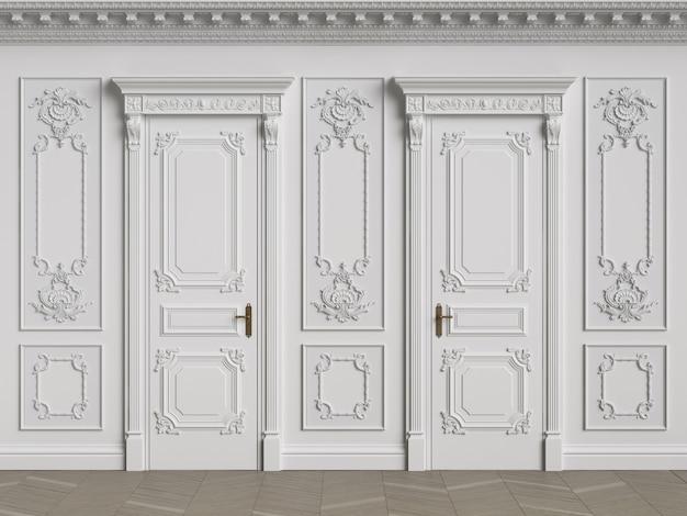 Murs intérieurs classiques avec espace copie