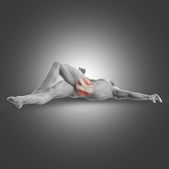 Muscle fessier étirement
