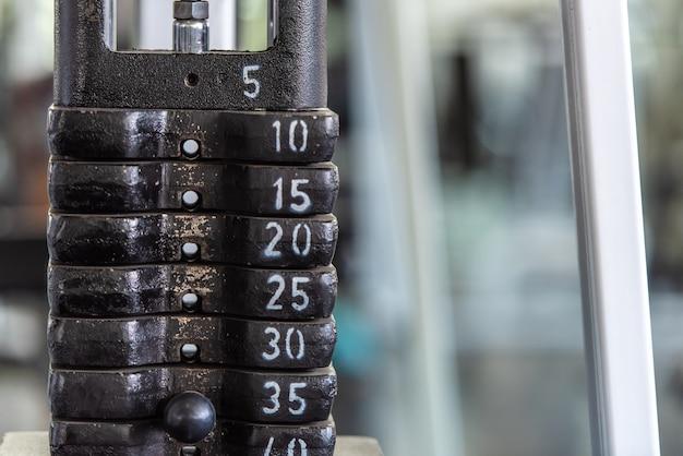 Musculation équipement de sport de gymnastique de poids.