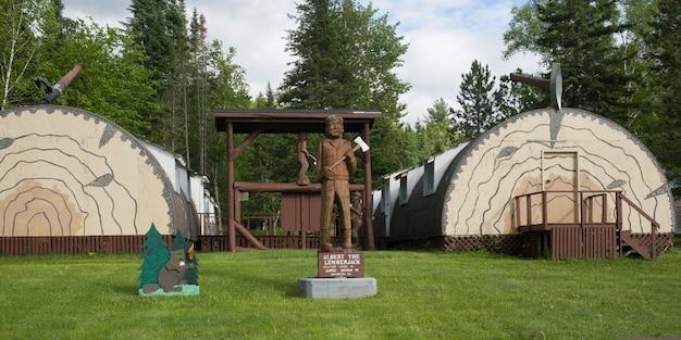 Musée des bûcherons du centre du nouveau-brunswick à boiestown, nouveau-brunswick, canada