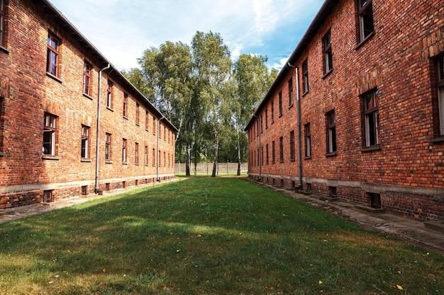 Musée du camp de concentration nazi d'auschwitz-birkenau en pologne