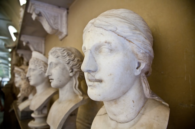 Musées du vatican, rome, italie : collection de statues
