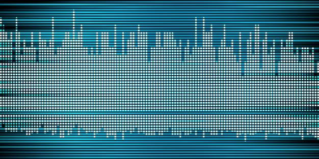 Musique abstraite onde sonore onde sonore fond graphique d'impulsion